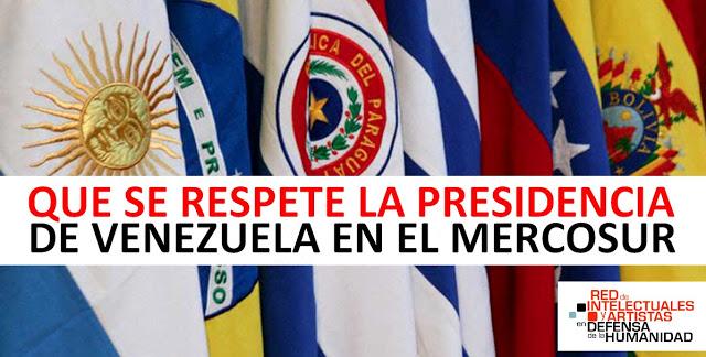 Que se respete la presidencia de Venezuela en el Mercosur. Comunicado REDH